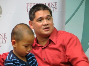 Bert Ballard with his son, who was adopted in 2010. The journey to adopt the boy is highlighted in the film.